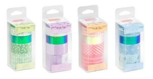 Fita Adesiva Washi Tape Candy Colors c/ 6 Rolos Brw