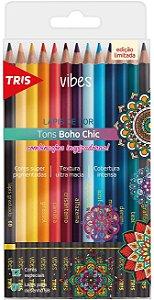 Lápis De Cor Tris Vibes Boho Chic - 12 Cores