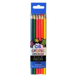 Lápis De Cor Cis Neon - 6 Cores