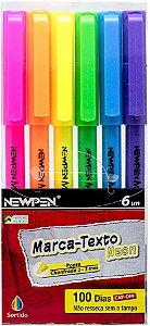 Caneta Marca Texto Office Neon 6 Cores Newpen