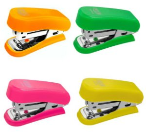 Mini Grampeador Neon Brw