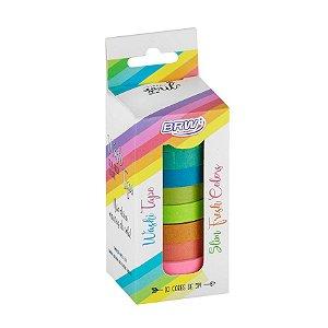 Fita Adesiva Washi Tape Fresh Slim (Fina) 10 Unidades Brw