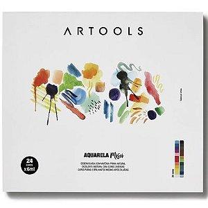 Aquarela Bisnaga Artools Misci 6ml 24 Cores