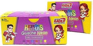 Tinta Guache 6 Cores Neon 15ml Radex