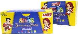 Tinta Guache 6 Cores Com Brilho 15ml Radex