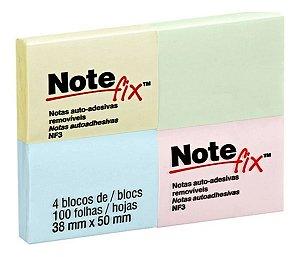 Bloco Adesivo Colorido 38x50mm C/100 Folhas Note Fix