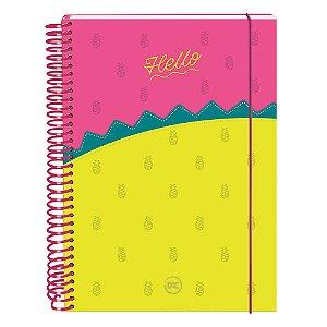 Caderno Colegial Hello 10 Matérias 160 Folhas Dac