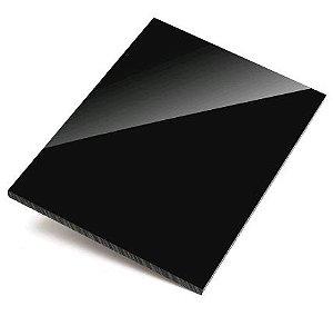 Chapa Acrílica Preto 12mm espessura tamanho 30cm x 40cm