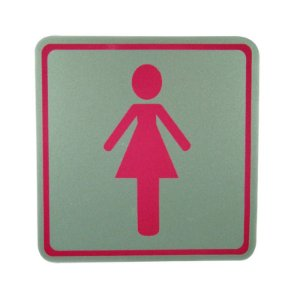 Placa de Identificação Banheiro Feminino - Pequena