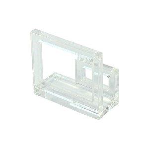 Porta Guardanapo de Acrílico Quadrado Transparente