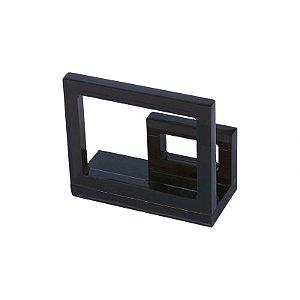 Porta Guardanapo de Acrílico Quadrado Fumê