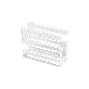 Porta Guardanapo de Acrílico Transparente em S