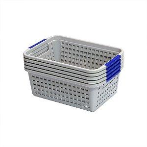 Kit Cestinho de Plástico Organizador Multiuso - 5 unidades