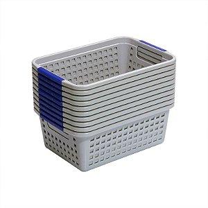 Kit Cestinho de Plástico Organizador Multiuso - 15 unidades