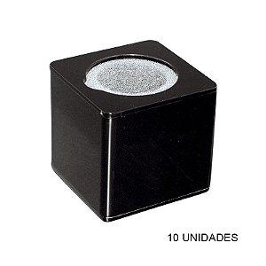 Kit Canopla Preta p/ Microfone Acrílico c/ Esponja - 10 un