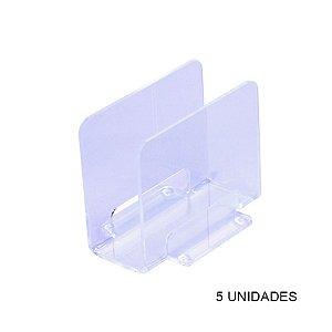Kit Porta Guardanapos Transparente - 5 unidades