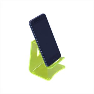 Suporte de Celular em Acrílico - Porta Celular Verde Neon
