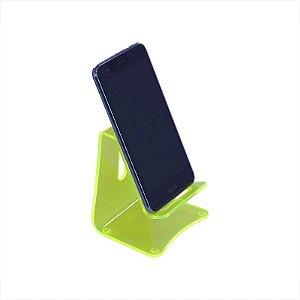 Kit 2 Suporte Universal Celular em Acrílico - Verde Neon