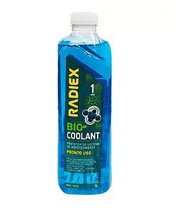 Aditivo para Radiador Bio Coolant Pronto Uso Azul 1 Litro - RADIEX-R-1893