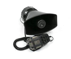 Sirene Automotiva 7 Tons Sons Policia Bombeiro Microfone Som Rocan