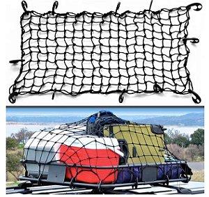 Rede Elástica Para Carga Com Ganchos 120 x 90 Cm