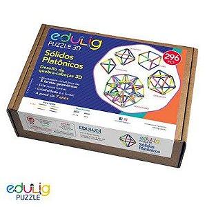 Quebra-Cabeça Edulig Puzzle 3D Sólidos Platônicos
