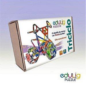 Quebra-Cabeça Edulig Puzzle 3D Triciclo