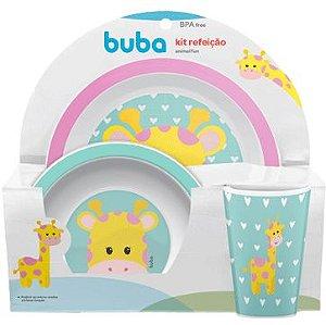 Kit Alimentação Infantil Animal Fun Girafa - 3 Peças