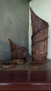 Arte em Suporte de Garrafa