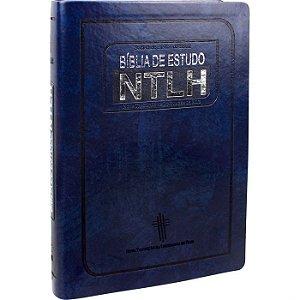 Bíblia de Estudo NTLH  Azul Nobre