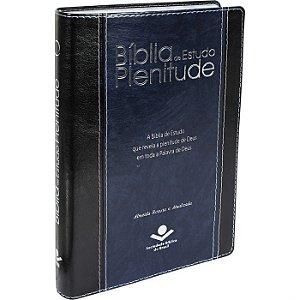 Bíblia de Estudo Plenitude Capp Sint. Pt/Az Nobre Ra