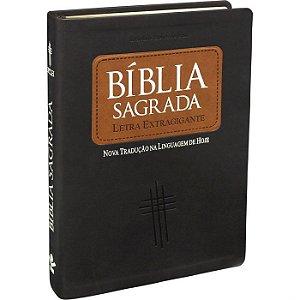 Bíblia Ind. Digital Capa Sint. Marrom Claro/Escuro NTLH Letra Extragigante