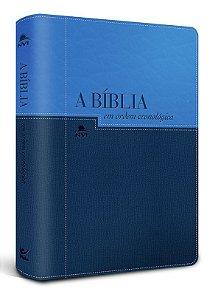 Bíblia NVI em Ordem Cronológica – capa azul claro e escuro