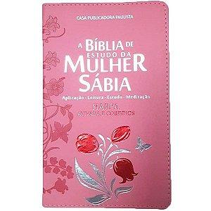 BIBLIA DA MULHER SABIA CR - MOD 01 TULIPA ROSA