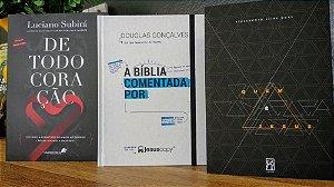 Kit Bíblia Comentada +Quem é Jesus +De Todo Coração