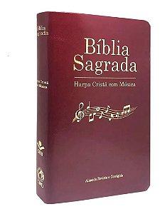 Bíblia  Sagrada   Harpa Cristã C/ Música VINHO