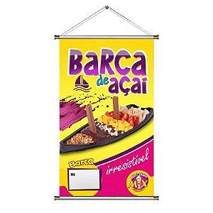 Banner Digital 0,80x0,50m - Lona 440g - Com Madeirinha ou Ilhós