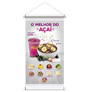 Banner Digital 1,20x0,80m - Lona 440g - Com Madeirinha ou Ilhós