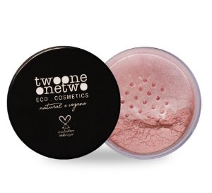 Blush Facial Leite de Coco Natural Vegano Twoone Onetwo 9g Rose