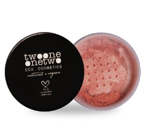 Blush Facial Leite de Coco Natural Vegano Twoone Onetwo 9g Peach