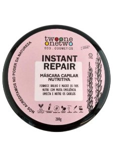Máscara Capilar Nutritiva Instant Repair Twoone Onetwo Natural Vegana 200g