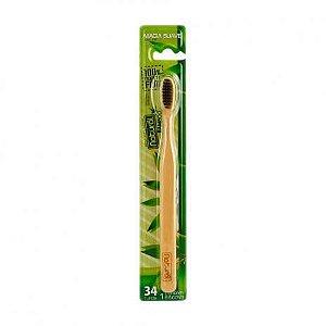 Escova Natural Bamboo E Carvão 34 tufos - Orgânico Natural