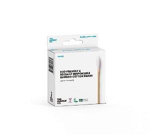 Hastes Flexíveis de Bambu com Algodão Biodegradável 100un - The Humble
