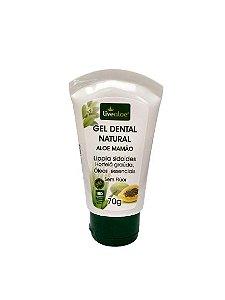Gel Dental Natural Aloe Mamão – Livealoe – 70g