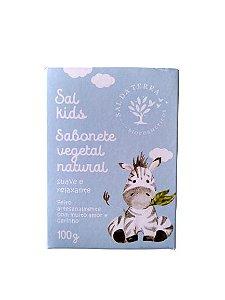 Sabonete Vegetal Natural Infantil Camomila e Lavanda – Sal da Terra – 100g