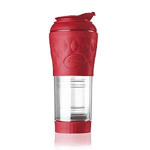 Cafeteira Portátil Pressca Vermelha 350 ML