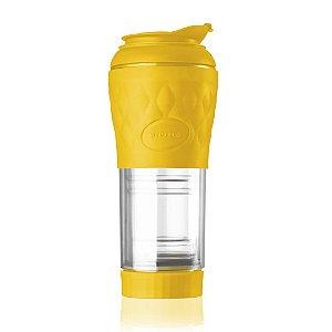 Cafeteira Portátil Pressca Amarela 350 ML