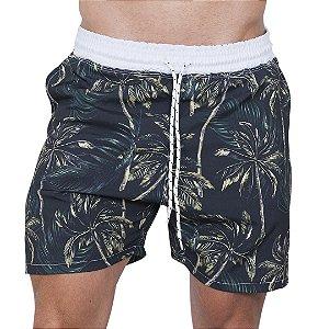 Shorts Tactel Masculino Preto Coqueiros
