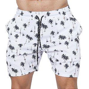 Shorts Tactel Masculino Branco Barcos