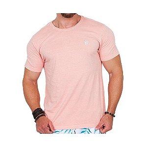 Camiseta Estonada Masculina Salmão